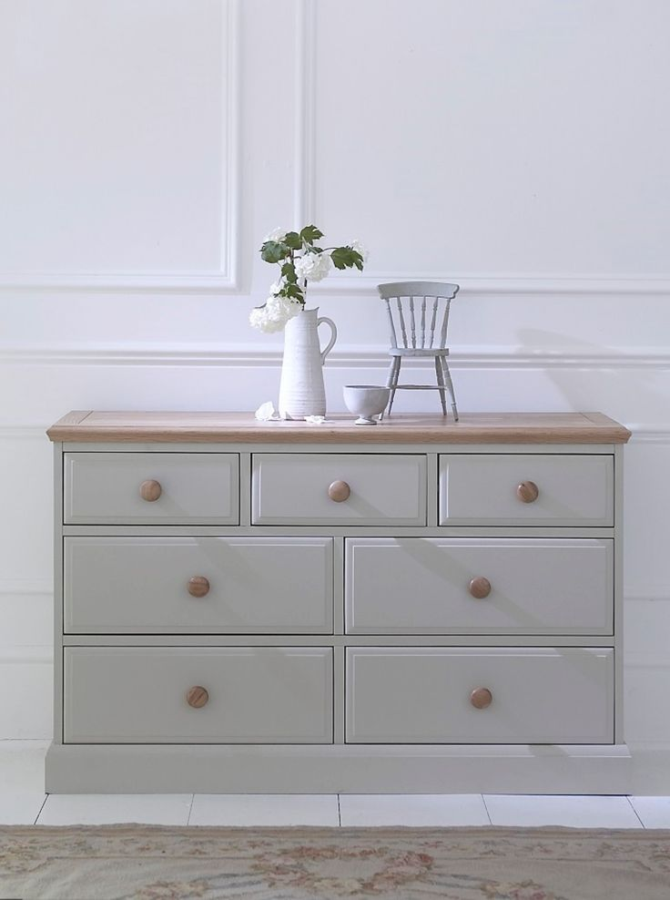 This Bedroom Collection Brings The Appeal Of Painted Furniture With Contrasting Oak Top For A True
