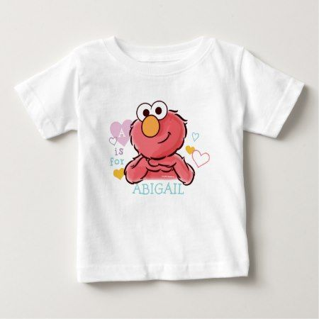Adorable Elmo | Add Your Own Name Baby T-Shirt - click/tap to personalize and buy