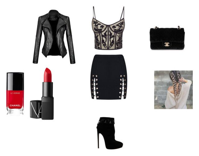 """Sin título #54"" by ninelfo-1 on Polyvore featuring Alexander McQueen, Alaïa, Chanel, NARS Cosmetics, men's fashion y menswear"