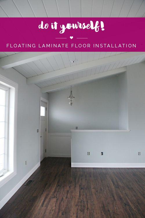 Do it Yourself: Floating Laminate Floor Installation | IHeart Organizing | Bloglovin'