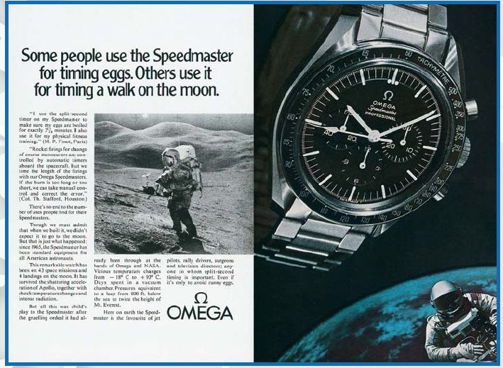 "In 1969, the Speedmaster was nicknamed the ""Moon Watch"" and was slightly modified. http://www.mondanionline.com/the_master_of_omega-9.php?&lingua=en"
