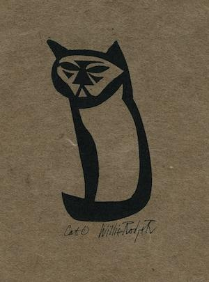 Cat1, willie Rodger linocut