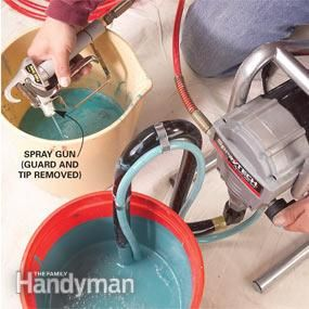 Tips for using an airless paint sprayer