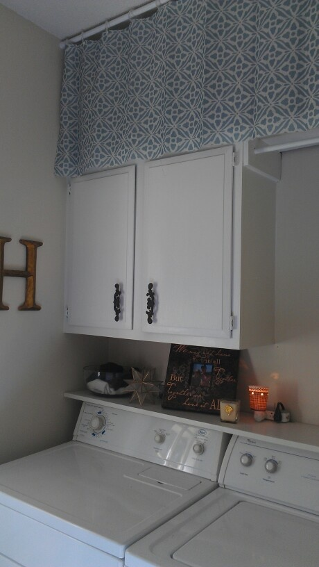 Storage solution and facelift to our small laundry room Storage solutions for small laundry rooms