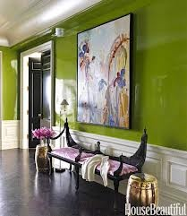 A clever trick to use a reflective paint finish in a hallway with no windows and natural light - stunning!