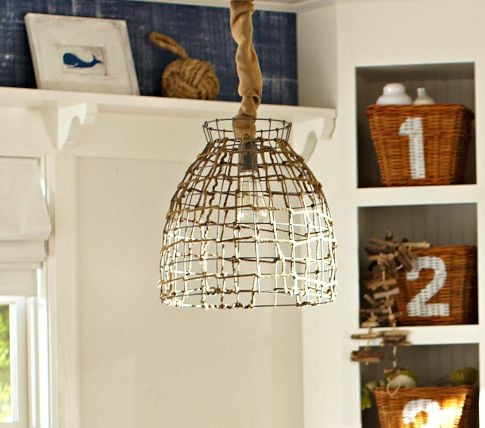 Basket Pendant Light | Pottery Barn Kids