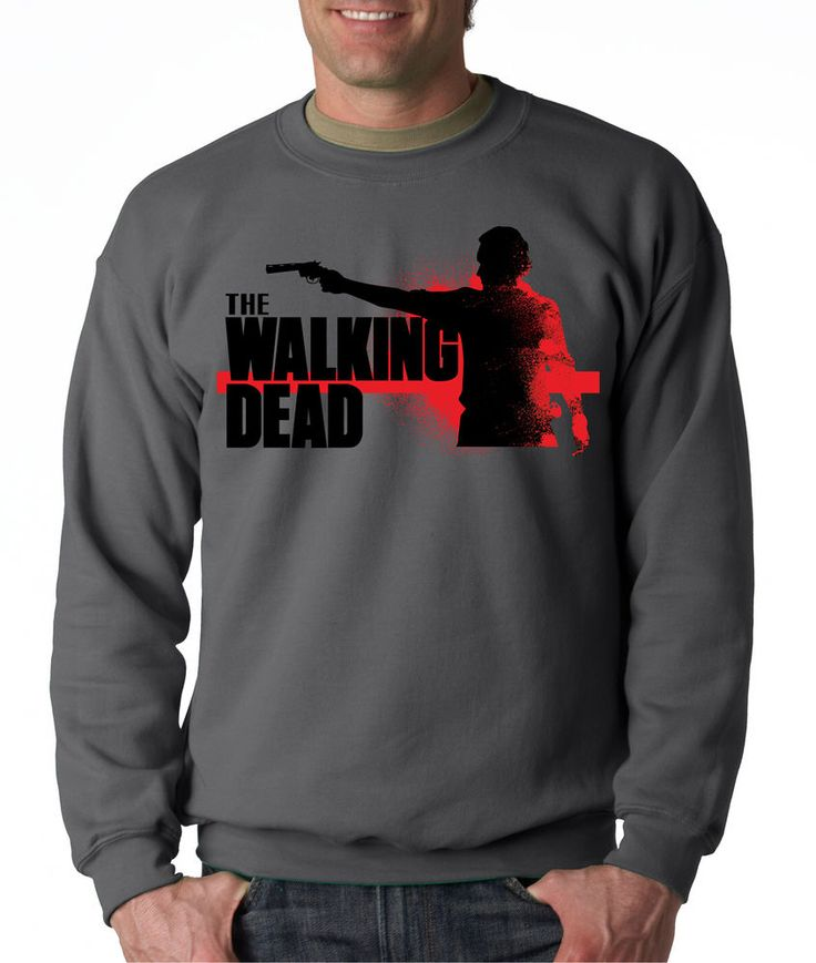 THE WALKING DEAD SILHOUETTE CREW NECK Season Dead Series Zombie Sweatshirt #RockCityThreads #SweatshirtCrew