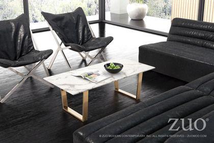 Zuo Modern Atlas Coffee Table Stone & Gold