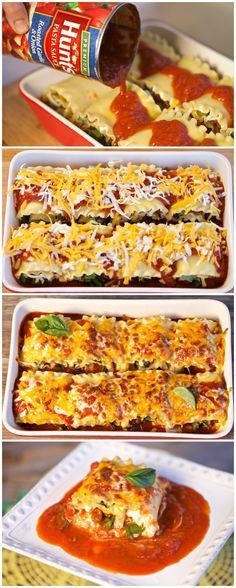 Place all manwich lasagna rolls in baking dish. Make sure all lasagna rolls are snug, and pour Hunt's pasta sauce over the top. Top with cheese and bake at 375 Fahrenheit for 30 minutes. Buy all the ingredients at Walmart.
