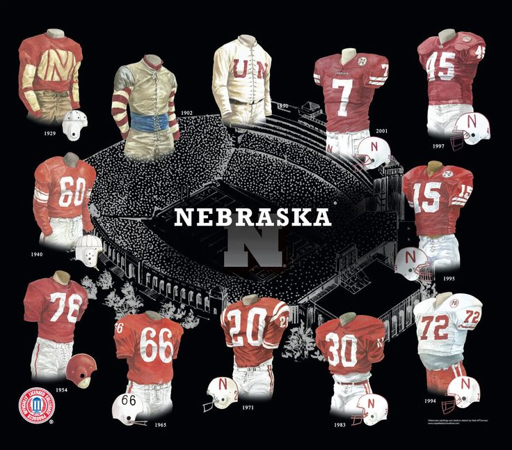 "The history of the 'Huskers uniform since 1890.  The name Cornhuskers first appeared in the school newspaper as ""We Have Met The Cornhuskers And They Are Ours"" referring to a 20-18 upset victory over Iowa in 1893. The name would be used again, this time to refer to Nebraska by Charles ""Cy"" Sherman in The Nebraska State Journal during the 1899 season and would replace all other names by 1900."