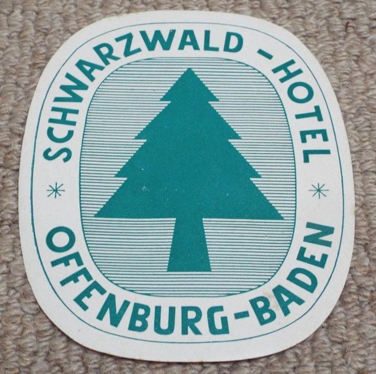 SCHWARZWALD HOTEL - OFFENBURG - GERMANY - VINTAGE HOTEL LUGGAGE LABEL