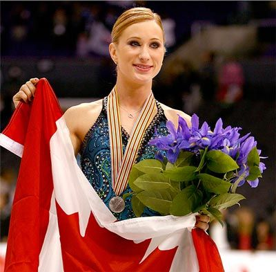 Joannie Rochette was Team Canada's flag bearer in the closing ceremonies in 2010 when she displayed great courage and strength.