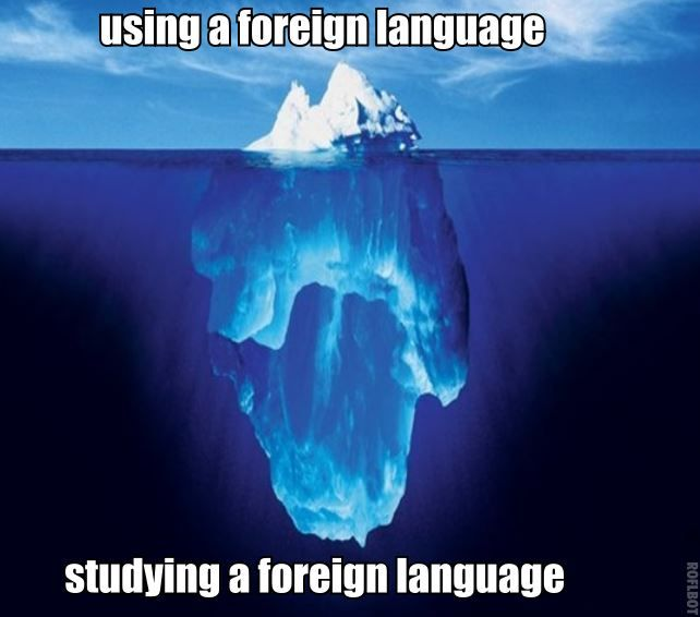 studying a foreign language