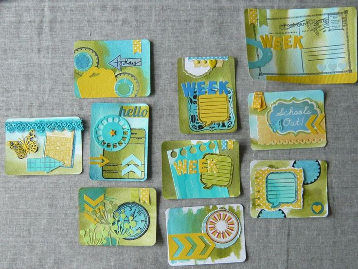 Scrap-joy: Project Life, cards made by myself.