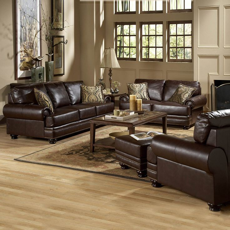 Homelegance Bentleys Bonded Leather Sofa Set Cherry