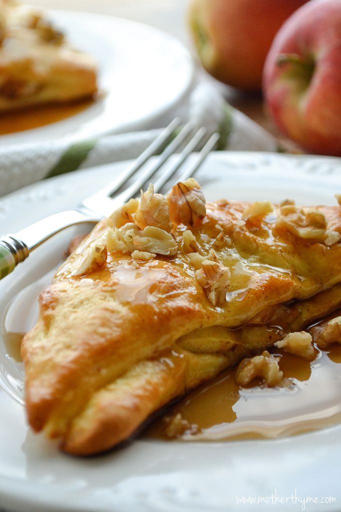 Apple Stuffed Crescent Roll French Toast | Mother Thyme