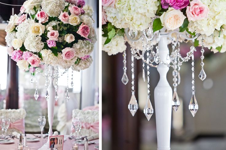 MASSIVE centerpieces and BLING! <3
