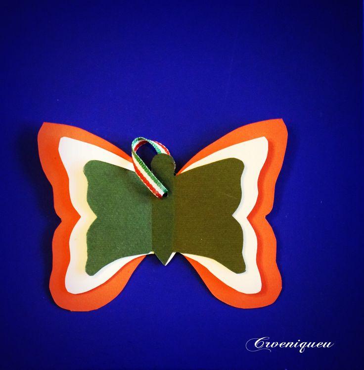 Március 15. Tricolor Pillangó Nemzeti ünnep