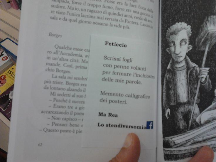 """La prima imboscata è stata preparata su """"Pantera"""" di Stefano Benni alla libreria """"La Feltrinelli"""" di Ferrara.  #imboscateletterarie"""