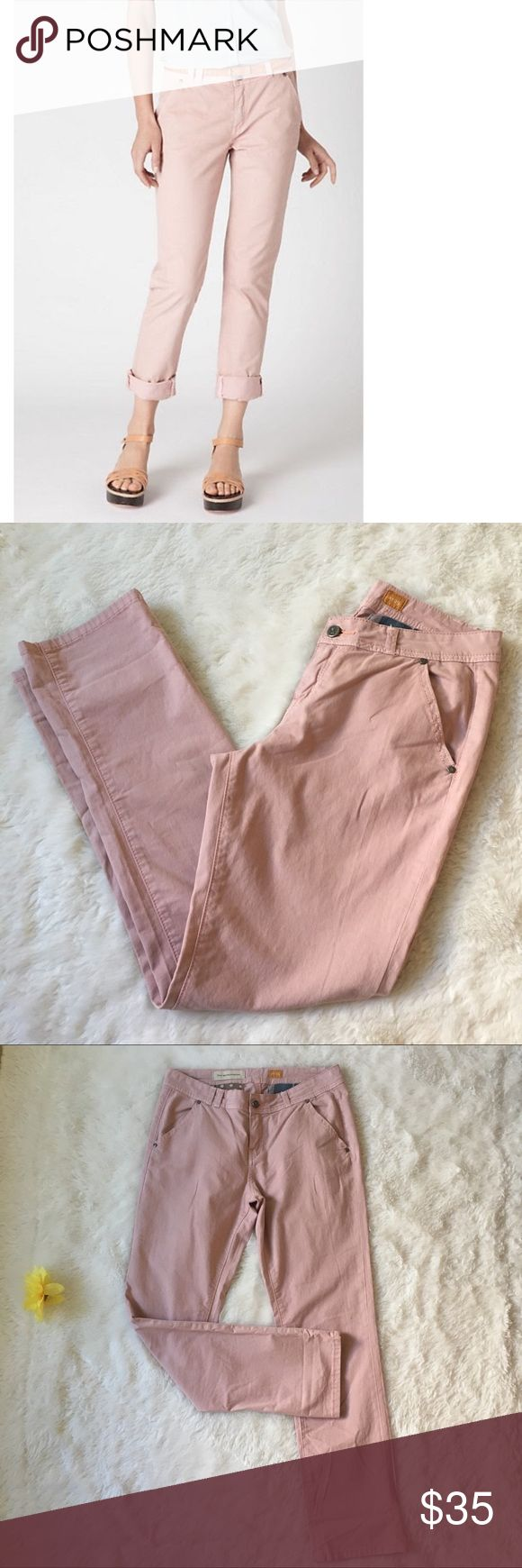 """Anthropologie Pilcro Blush Dusty Pink Pants Sz 29 Pilcro and the Letterpress Boyfriend Style Blush Dusty Pink Pants size 29. Sold at Anthropologie. Measurements when laid flat: 16"""" waist, 9"""" rise, 30.5"""" inseam and 39.5"""" length. Fabric 97& cotton and 3% spandex. Excellent condition. Fast shipping. No modeling or trades. Offers welcome. Bundle to save. Smoke & pet free home. Anthropologie Pants"""