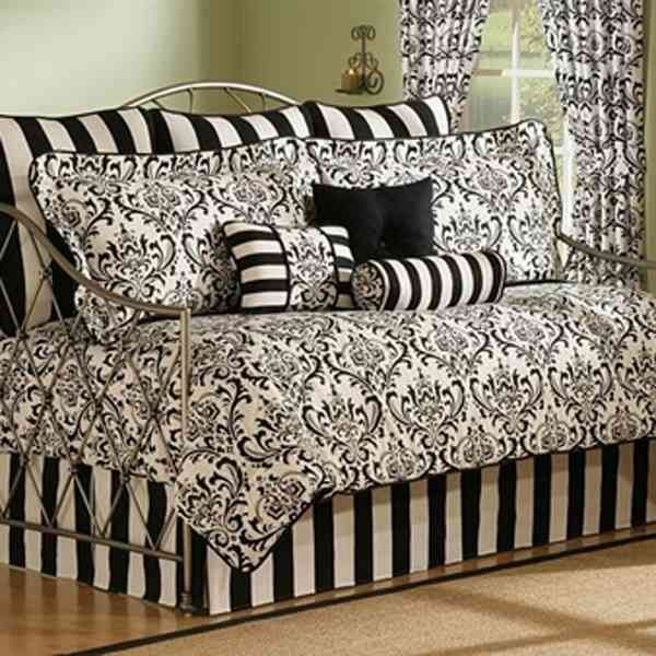 Bedroom: Black Daybed Bedding Sets Video and Photos Madlonsbigbear and Twin Size Piece Daybed Cover Ensemble Quilt Set In Scarl / Black Daybed Bedding Sets Photo 7 on adadisini.info