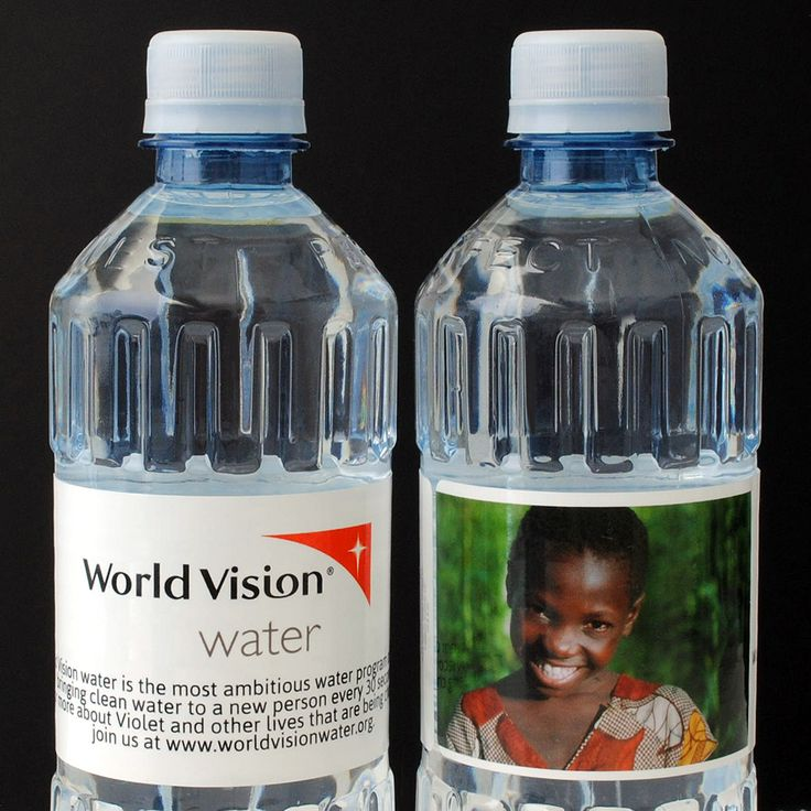 Personalized Bottled Water for World Vision. #worldvision #nonprofit #giveback