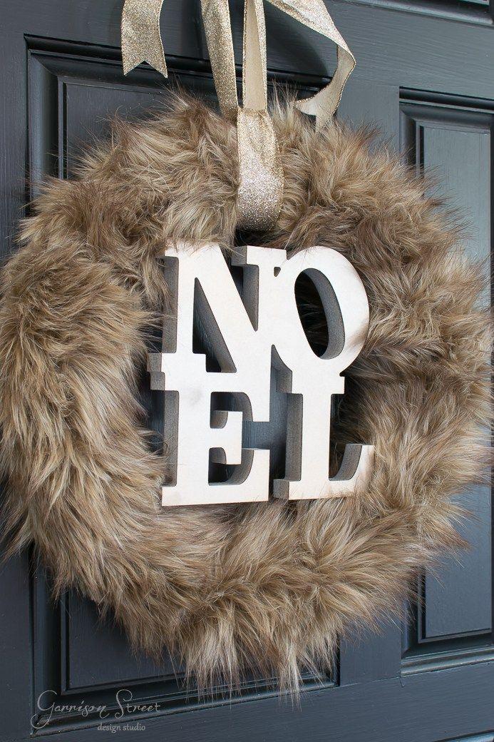 DIY Faux Fur Christmas Wreath | Garrison Street Design Studio
