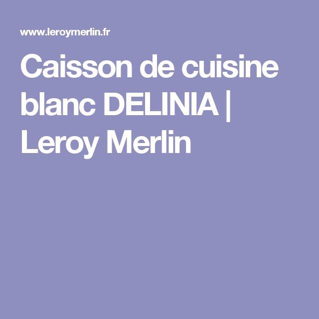 25 melhores ideias de caisson de cuisine no pinterest for Avis cuisine leroy merlin delinia