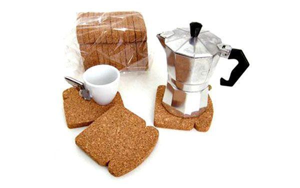 """Porta Copo Pão de Forma - """"Toast It Coasters"""""""