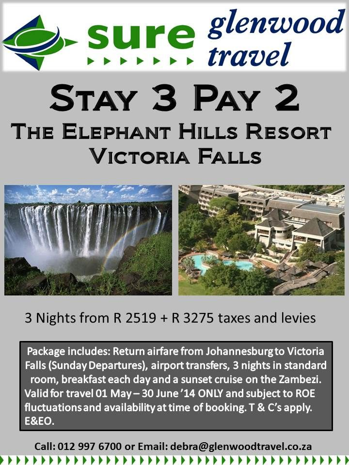 Make Sure you book your honeymoon with debra@glenwoodtravel.co.za