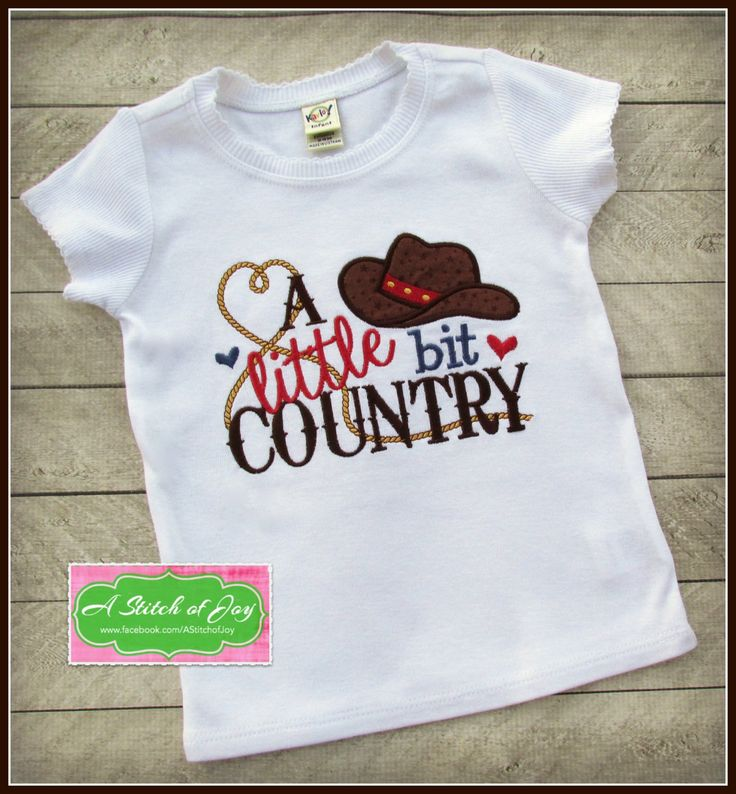 Country Shirt, A Little Bit Country, Cowgirl, Cowboy by AStitchofJoy on Etsy