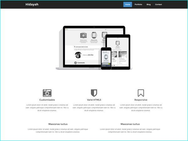 24 best Free Bootstrap HTML Templates For Designers images on - free resume html template