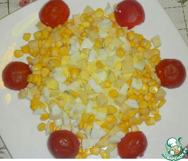 Яичный салат с помидорами-черри ингредиенты