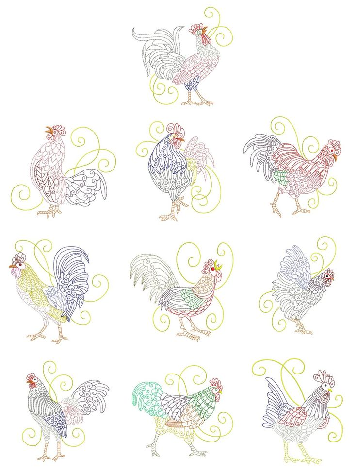 62 Best Images About Embroidery Chickens On Pinterest Folk Art Chicken And Chicken Pattern