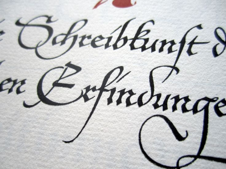 This is an example of some of Hermann Zapf's calligraphic work. In addition to being an accomplished typeface designer, he was also an accomplished calligrapher.