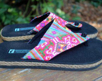 Vegan Womens Flip Flops Thong Sandals In by SiameseDreamDesign