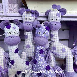 Bomboniere per battesimo comunione giraffa, giraffe ripiene di lavanda www.illavandeto.com