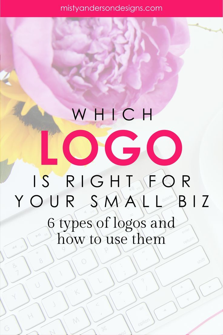 With so many choices how do you know which logo is right for your business? Learn about the 6 types of logos and how you can choose the right one for your biz. logos   logo design   branding   branding yourself   small business branding   branding your bl