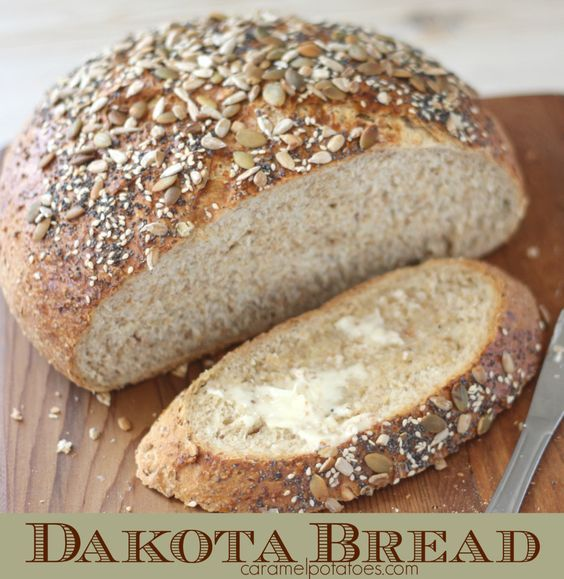 Cooks Country Dakota Bread - Dakota Bread was created for the celebration of North Dakota's 100th anniversary of statehood.  Since it is chock-full of whole-wheat and rye flours, plus barley, oats, sunflower seeds, and more- it's represents the state's bountiful harvest. It calls for soaked 7 Grain Hot Cereal Mix for great depth of flavor. We thought it tasted like Great Harvest Montana Crunch Bread.