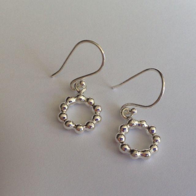 Seaweed Circle earrings/ sterling silver from Alison Blain