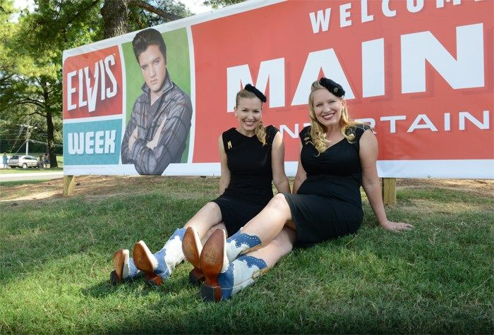 Gladys and Maybelle didn't just perform at the Salute to Memphis Music concert. They attended many Elvis Week events and greeted fans.