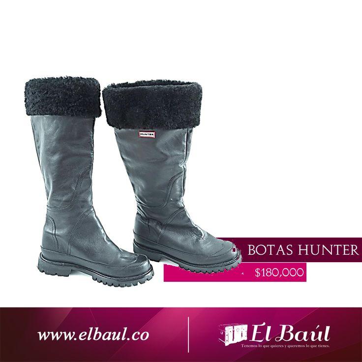 Botas negras HUNTER, prepárate para la llegada de #laniña  $180,000 http://elbaul.co/Productos/760/Botas-negras-HUNTER--