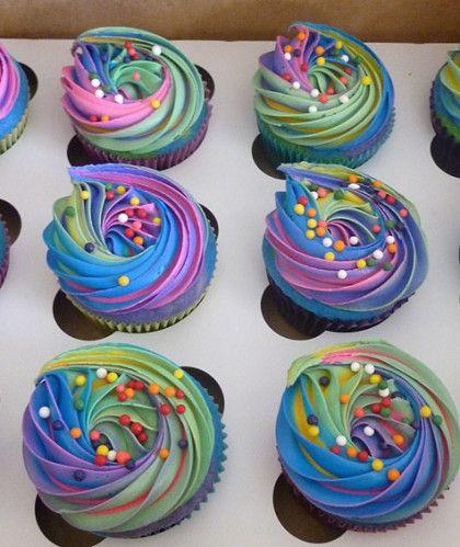 Gymnastics Cupcakes Tiedye And Sprinkles Birthday