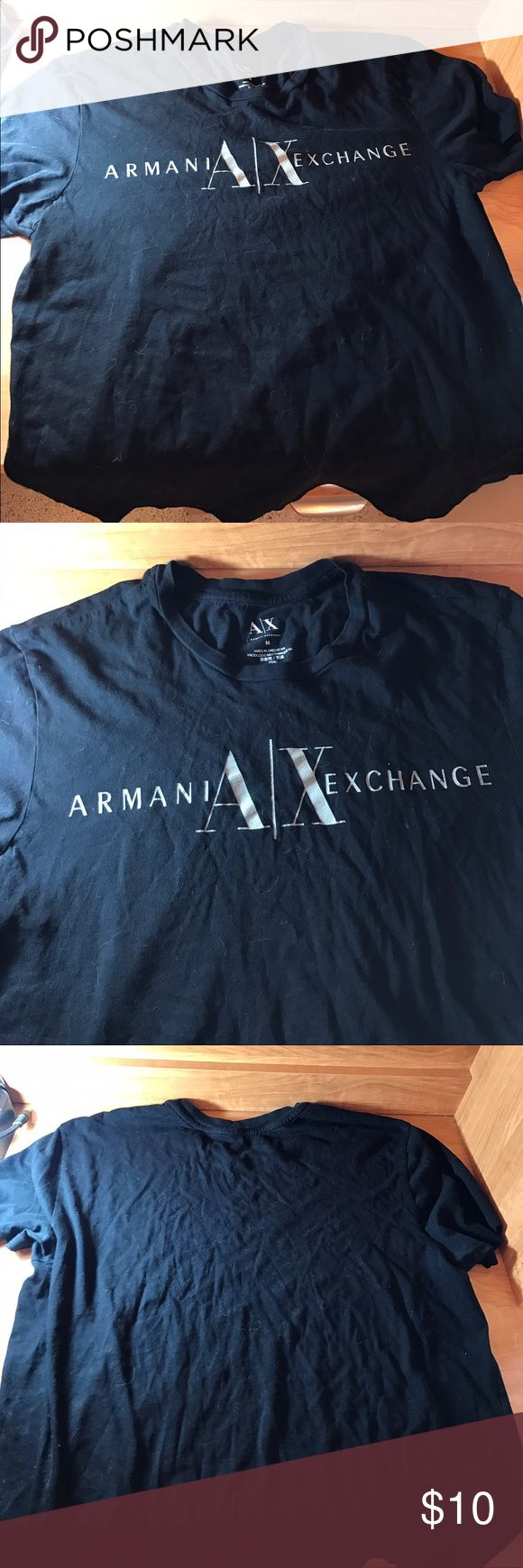 Armani Exchange Medium Short Sleeve Shirt Received as a gift with holiday purchase. It does not have tags but it doesn't appear to be very worn. It has been sitting in the box that it came in. I'm not sure if it's a men's medium or a women's medium, either way it's too small. Thanks for viewing! Check out my other items and ask about bundling. A/X Armani Exchange Tops Tees - Short Sleeve