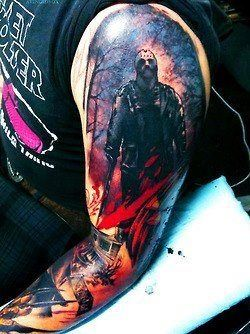 Amazing horror tattoo.
