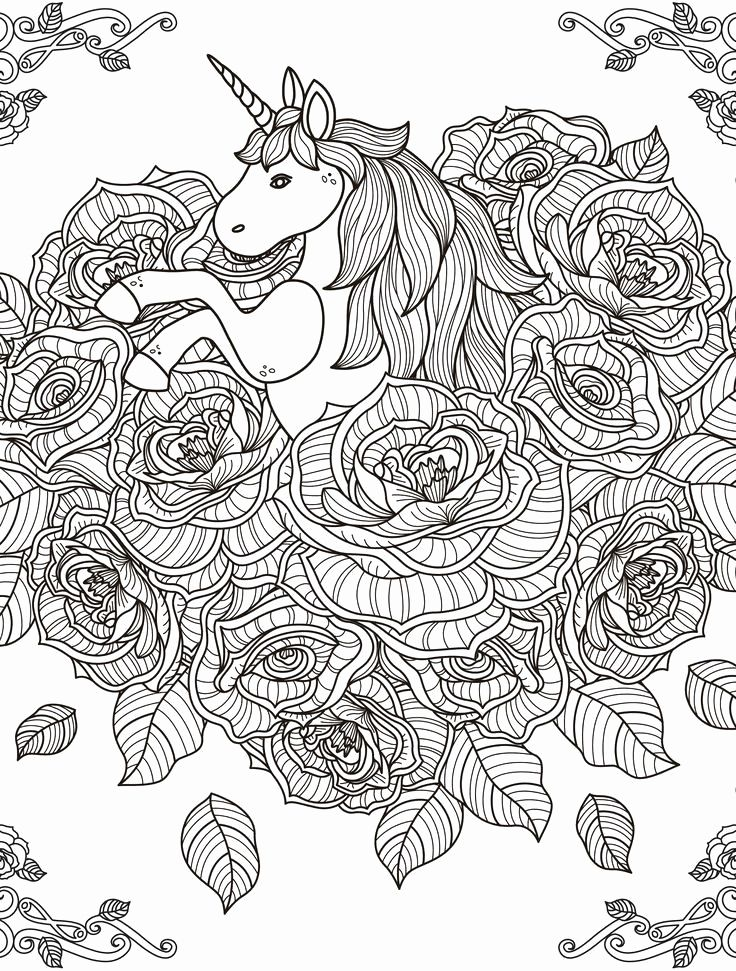 Unicorn Coloring Pages For Kids To Print Hard Horse Coloring Pages Detailed Coloring Pages Peacock Coloring Pages