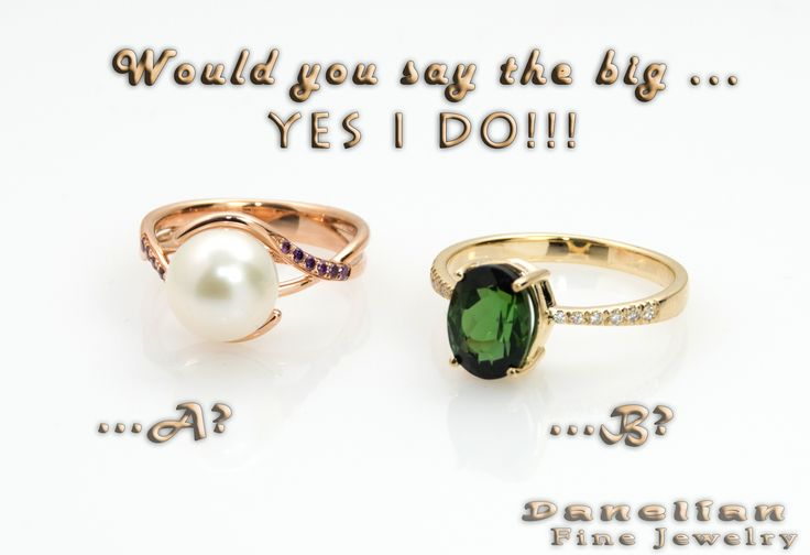 Both jewelry rings created and delivers within 10 days from our shop... SOME GUYS ARE ALREADY COUNTING DOWN!!  Would you go for ️ or ️ ????