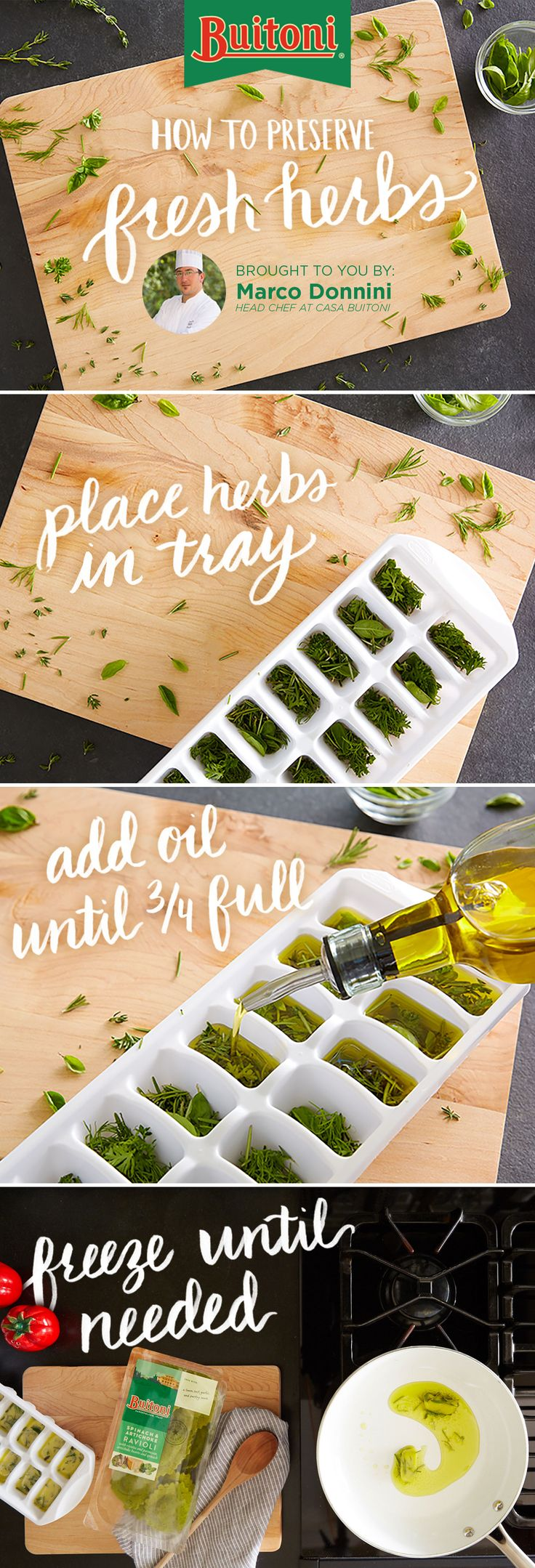 Buitoni's Chef Marco Donnini helps you get closer to dinner with an easy herb trick for capturing freshly made flavor.