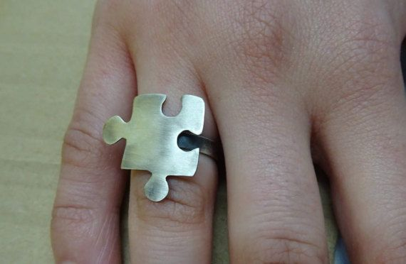 puzzle ring sterling silver handmade ring by IndiejewelsShop
