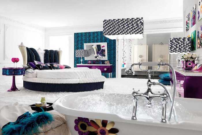 Betten Fur Teenagers Weisses Rundes Bett In Einem Luxus